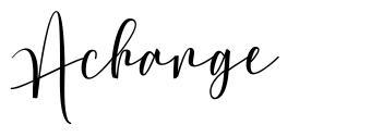 Achange
