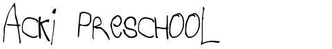 Acki Preschool