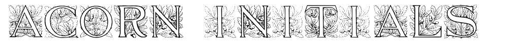 Acorn Initials