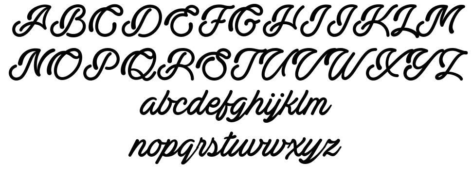 Actonia font