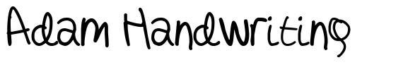 Adam Handwriting
