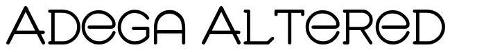 Adega Altered font