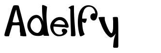 Adelfy шрифт