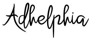 Adhelphia font