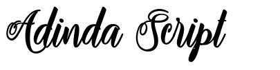 Adinda Script font