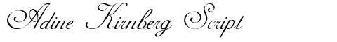 Adine Kirnberg Script