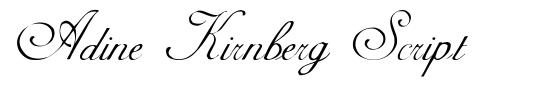 Adine Kirnberg Script czcionkę
