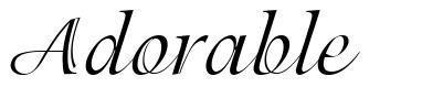 Adorable 字形