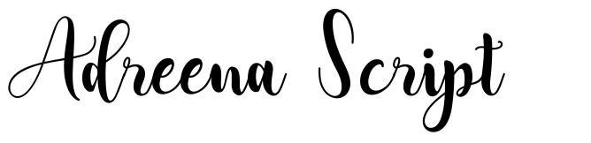 Adreena Script フォント
