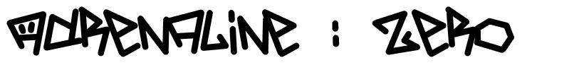 Adrenaline : Zero 字形