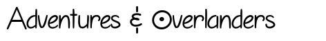 Adventures & Overlanders font