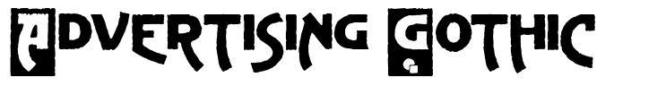 Advertising Gothic font