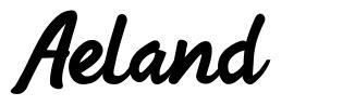 Aeland 字形