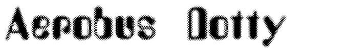 Aerobus Dotty font