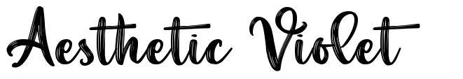 Aesthetic Violet font