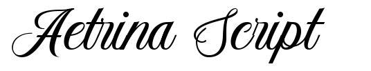 Aetrina Script font