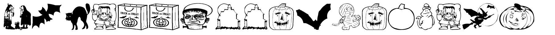 AEZ Halloween Dingbats