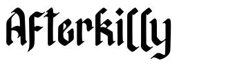 Afterkilly font