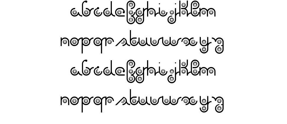 Again font
