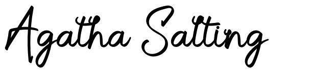 Agatha Salting font