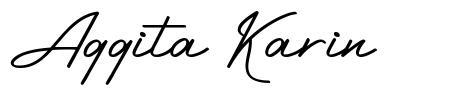 Aggita Karin font