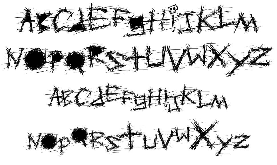 Aggressive Angry Baby Killer font