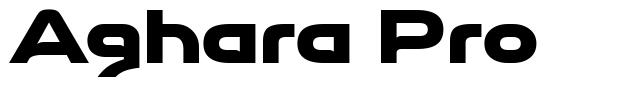 Aghara Pro font