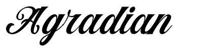 Agradian font