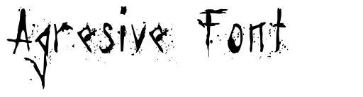 Agresive Font