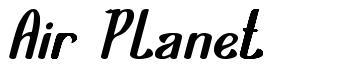 Air Planet font