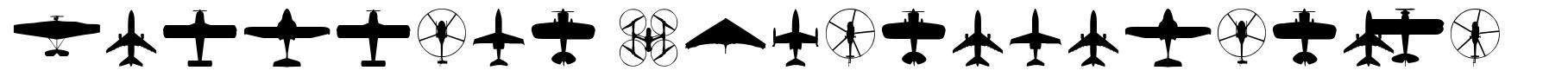 Aircraft Identification font