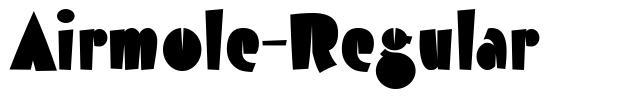 Airmole-Regular font