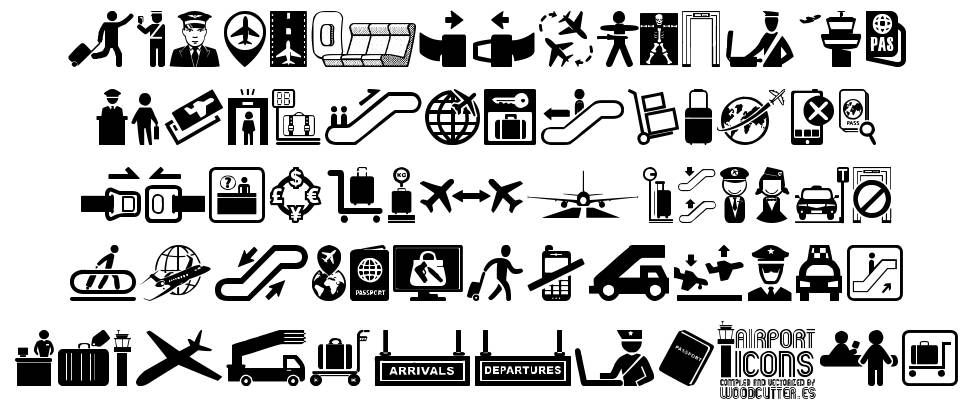 Airport Icons font