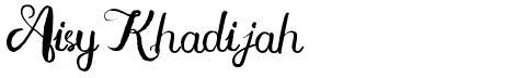 Aisy Khadijah