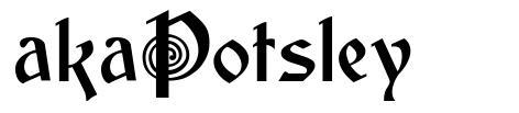 akaPotsley font