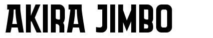 Akira Jimbo font