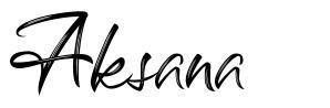 Aksana шрифт