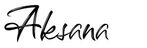 Aksana font