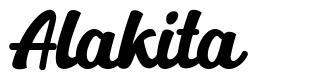 Alakita font