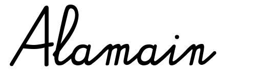 Alamain 字形