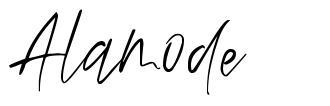 Alamode font