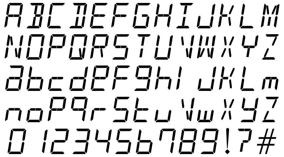 Alarm Clock Font By David J Patterson Fontriver