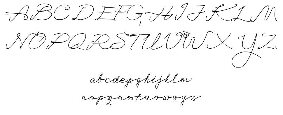 Alegant Script font
