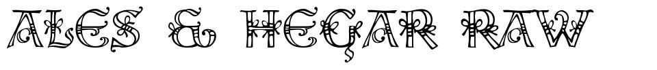 Ales & Hegar Raw font