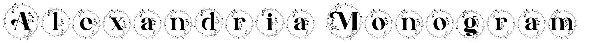 Alexandria Monogram