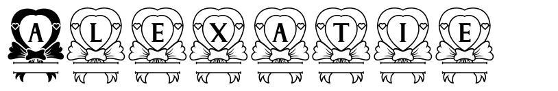 Alexatie font