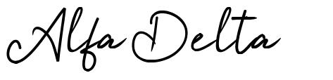 Alfa Delta font