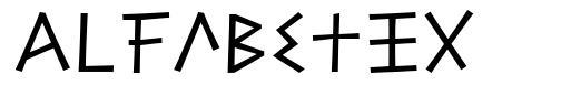 Alfabetix フォント