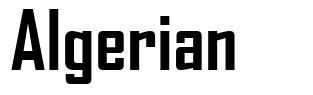 Algerian font