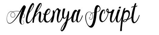 Alhenya Script fuente